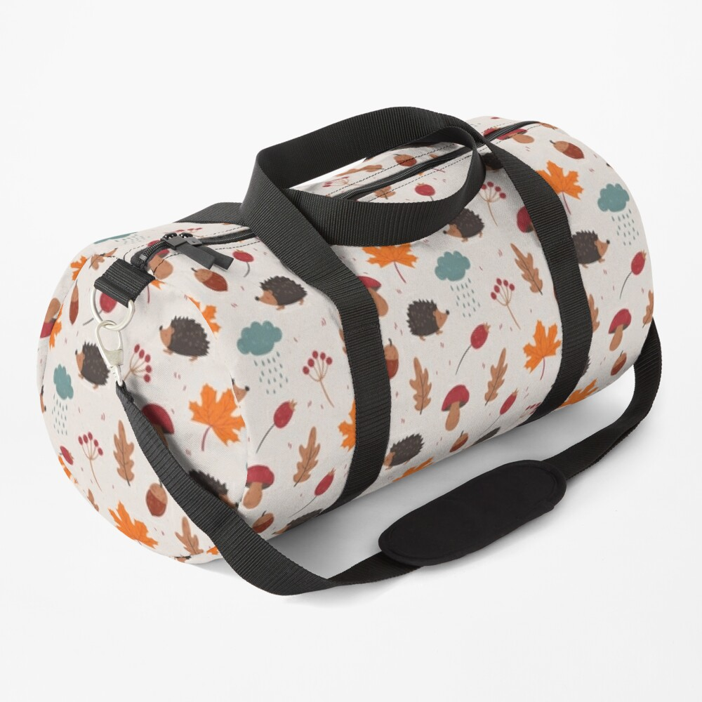 Autumn hedgehog Duffle Bag