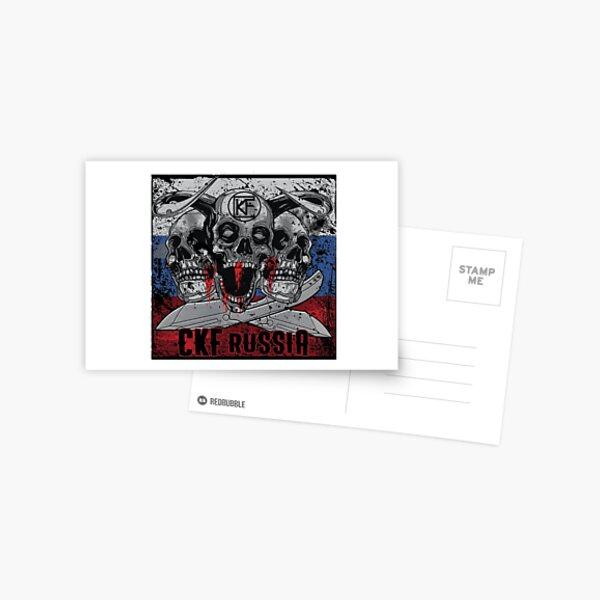 CKF Satori Knife + Skulls Postcard
