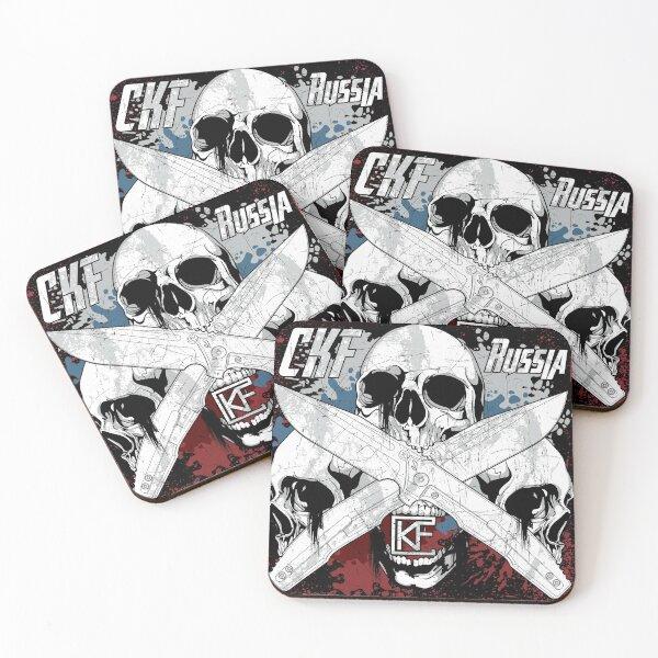 CKF Russia Rassenti SNAFU Knife Coasters (Set of 4)