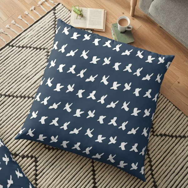 Chunky Crosses Indigo and White | Pattern Floor Pillow