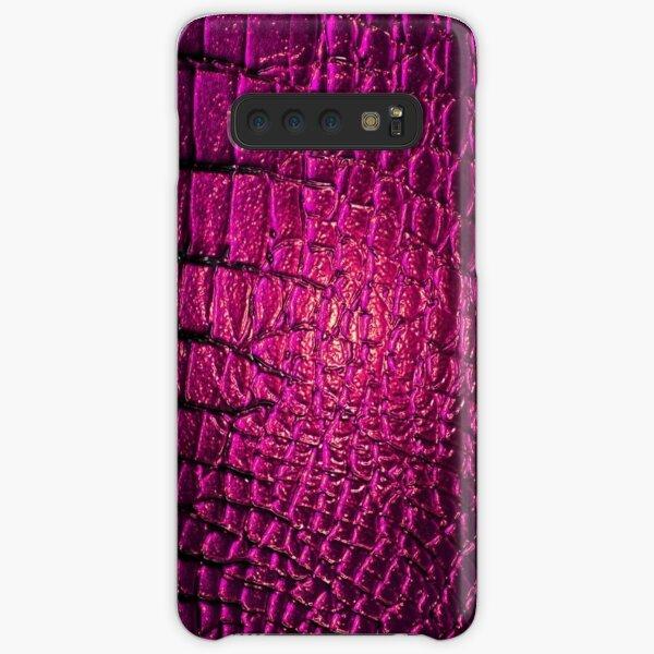Luxury Purple Crocodile Skin Samsung Galaxy Snap Case