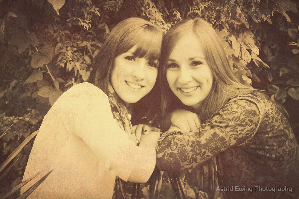 Sisters (70's Vintage style) by Astrid Ewing Photography
