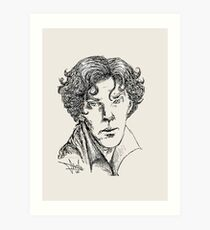 Portrait of a Consulting Detective Art Print