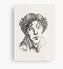 Portrait of a Consulting Detective Metal Print