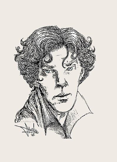 Portrait of a Consulting Detective by NadddynOpheliah
