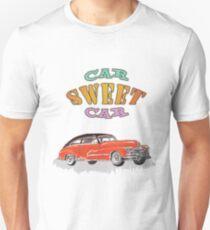 Retro Vintage Style : Car Sweet Car Unisex T-Shirt