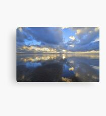 Devon: Evening Reflections at Saunton Sands Metal Print