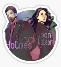 Joan and Sherlock Sticker