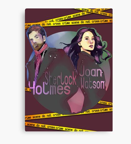 Joan and Sherlock Canvas Print