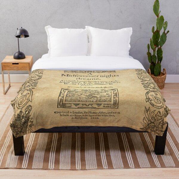 Shakespeare, A midsummer night's dream 1600 Throw Blanket