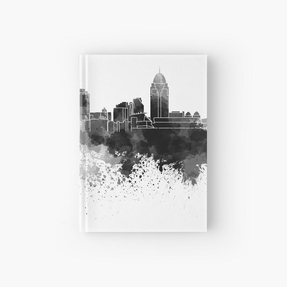 Cincinnati-Skyline im schwarzen Aquarell Notizbuch