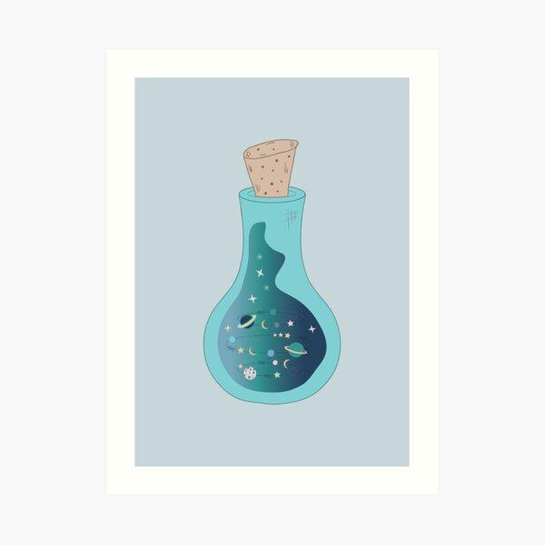 galaxy in a bottle Art Print