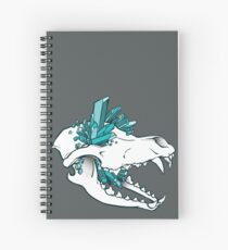 Crystal Skull - Wolf Spiral Notebook