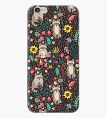 Raccoons bright pattern iPhone Case