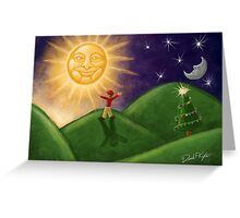 Greeting The Solstice Sun, Christmas Card for Pagans Greeting Card