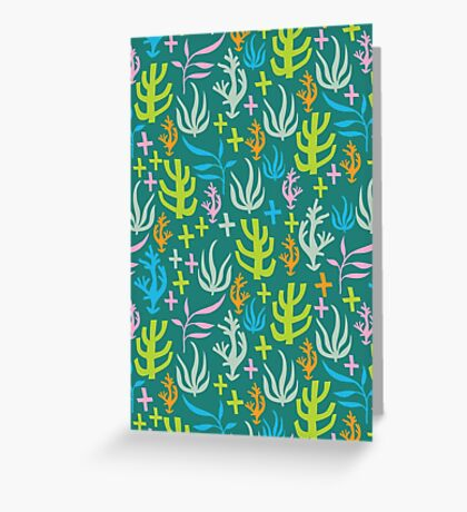 Seaweed Pattern Greeting Card