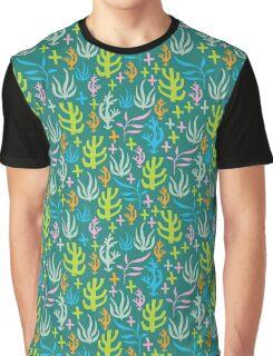Seaweed Pattern Graphic T-Shirt