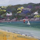 Salcombe from Millbay Beach by LucyStripes