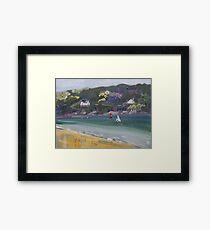 Salcombe from Millbay Beach Framed Print
