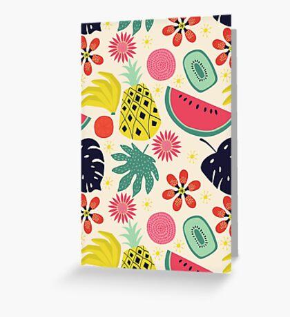 Tropicana Fruits Greeting Card