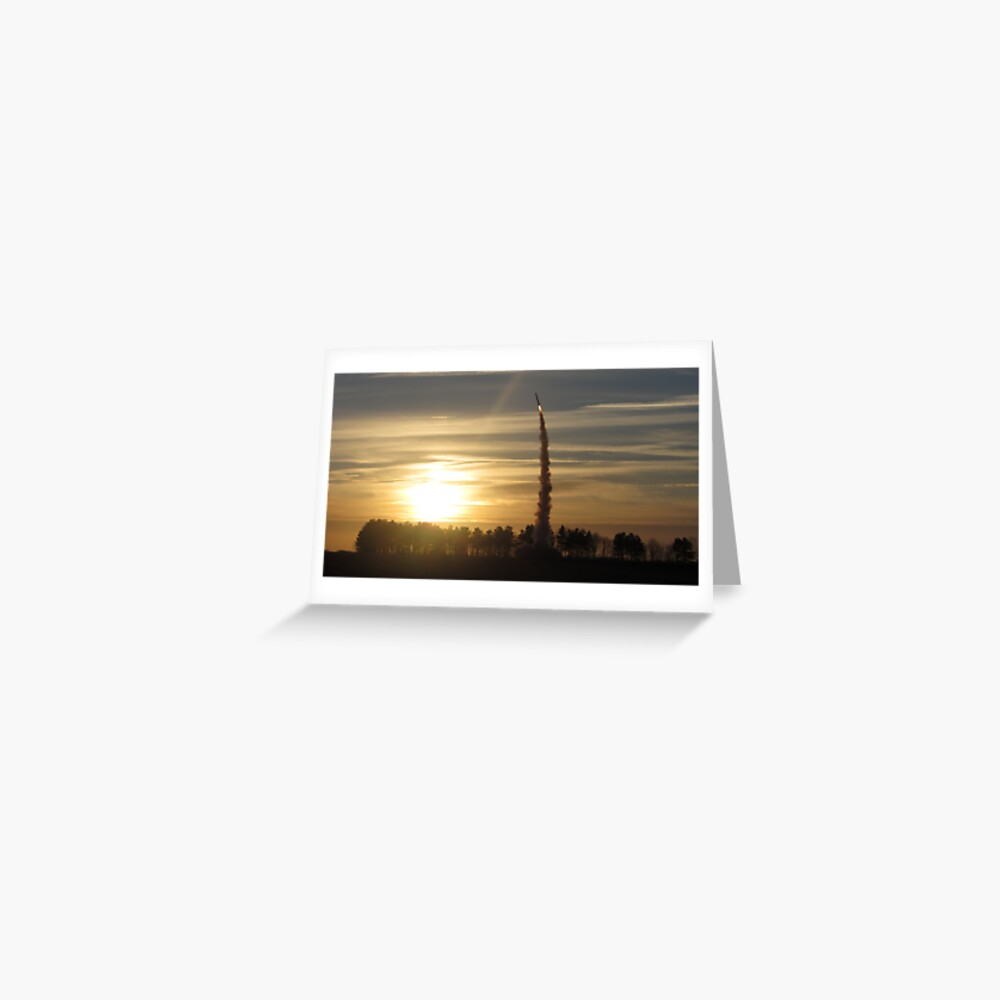 Sunset Rocket Launch Greeting Card