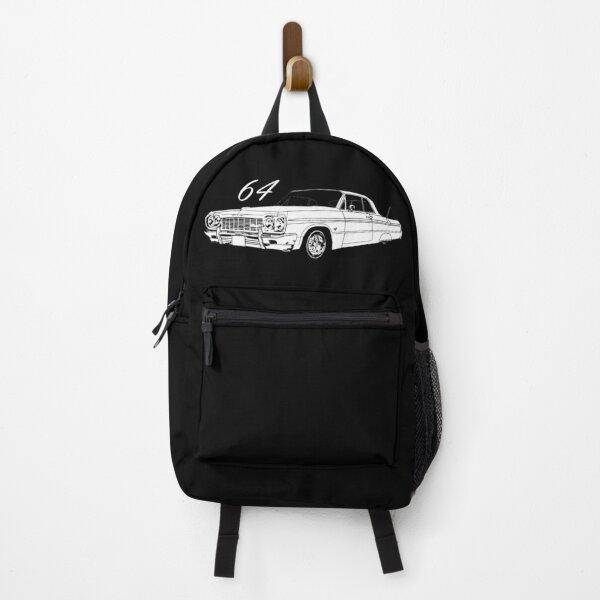 64 Impala black background Backpack