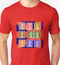 British Royal Mail postage stamps  T-Shirt
