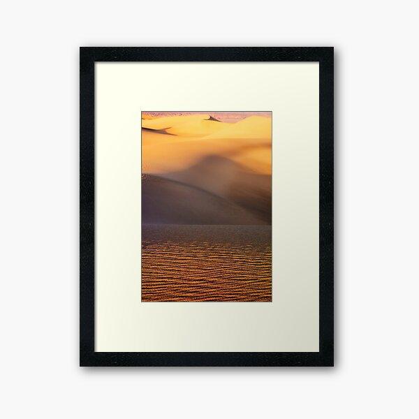 Sunset at Mesquite Flat Sand Dunes Framed Art Print