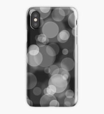 Black and White Bubbles iPhone Case