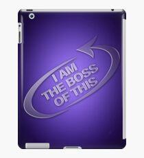 I am the boss of this - swirl arrow iPad Case/Skin