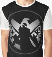 Metallic Shield Graphic T-Shirt