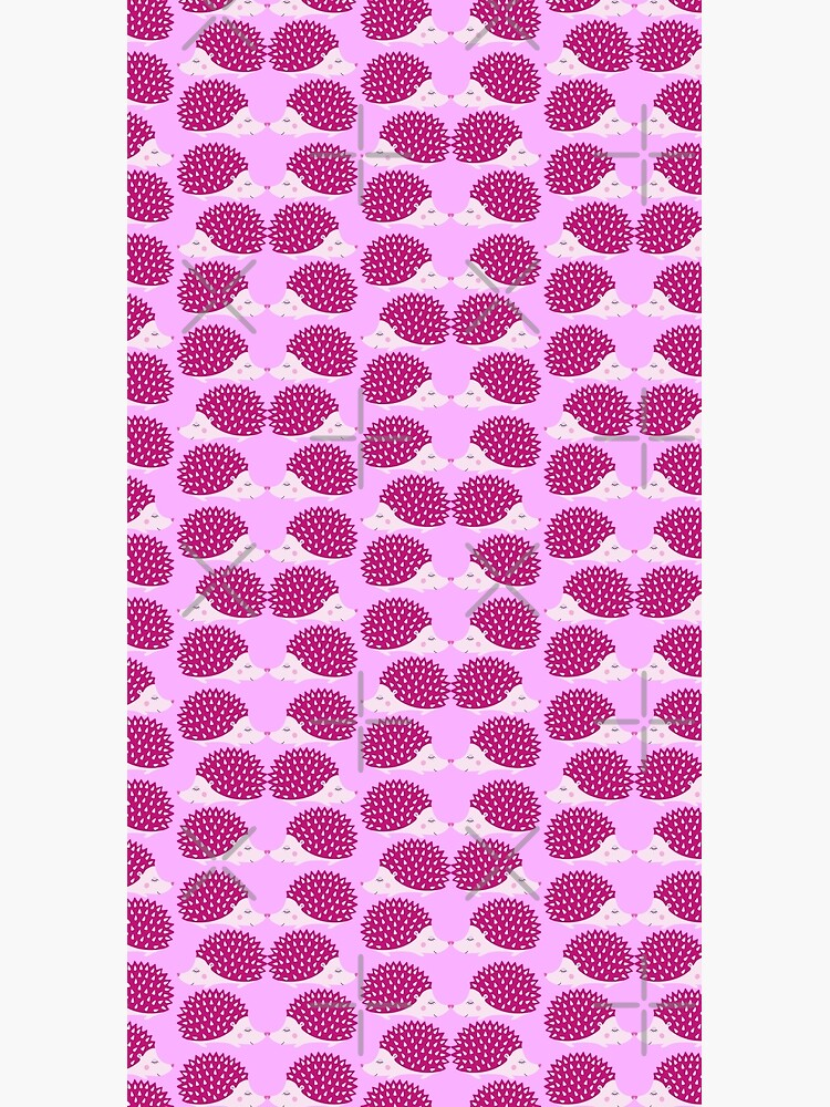 Hedgehog cute pink Pattern pink and deep pink. by ButterflyBe