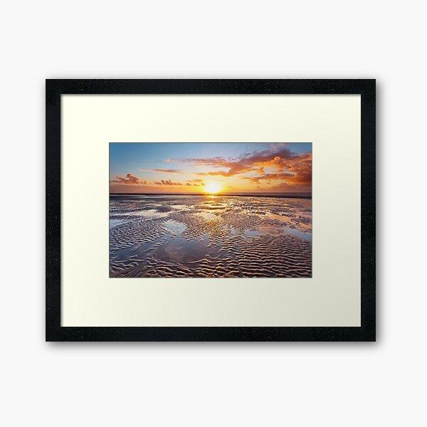 Formby Beach Sunset 1 Framed Art Print