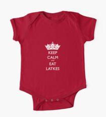 Keep Calm and Eat Latkes Hanukah Shirt One Piece - Short Sleeve