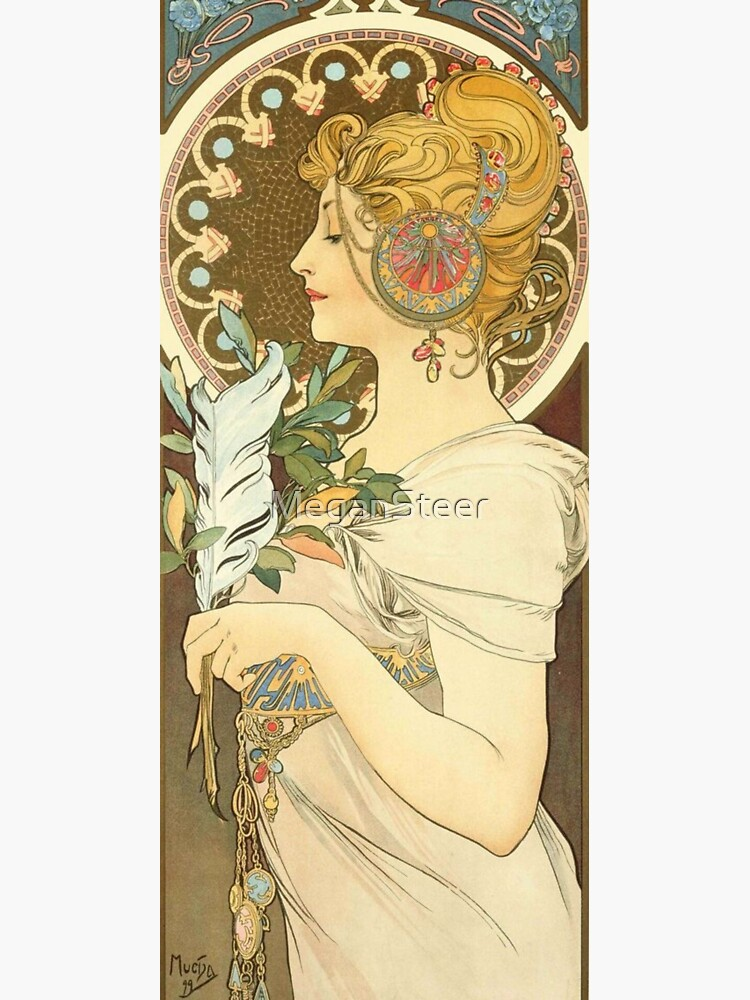 Feather by Alphonse Mucha, 1899 by MeganSteer