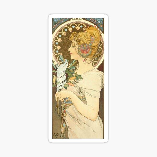Feather by Alphonse Mucha, 1899 Sticker