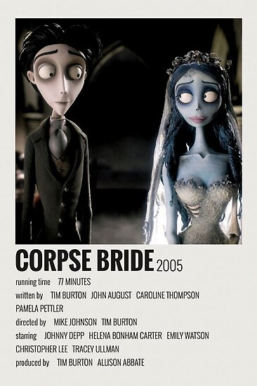 Corpse Bride 2005 Poster By Jordanclemen Redbubble