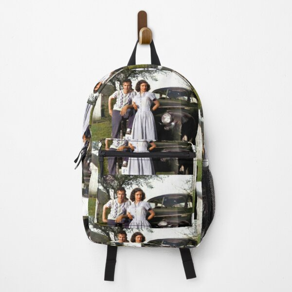 Secret Marriage, Colorized Antique Photo, Indiana, ca 1951 Backpack