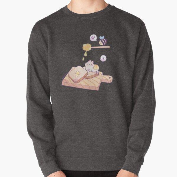 Cat with honey Pullover Sweatshirt