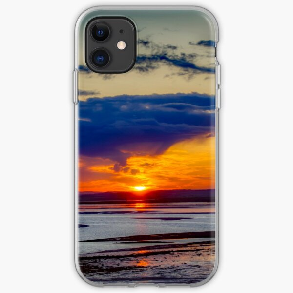 sunset looking from holy island  iPhone Soft Case