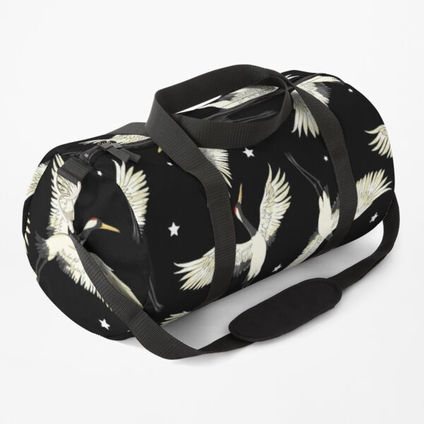 black white birds Duffle Bag