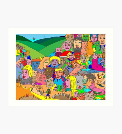 Peoplescape Art Print