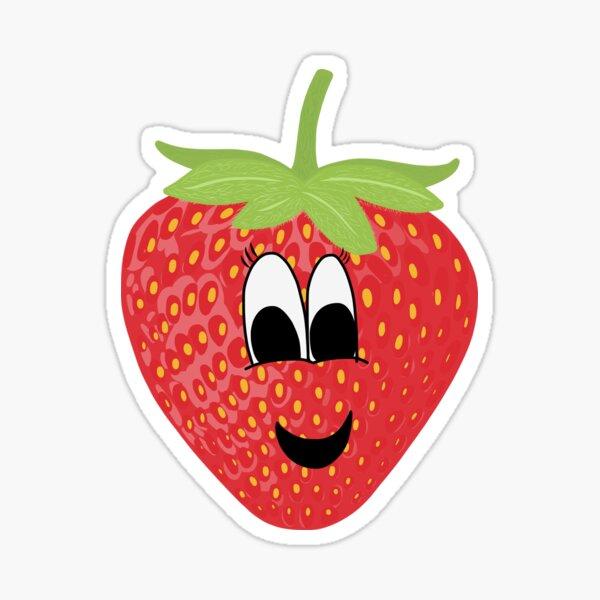 Smiling Strawberry Sticker