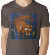 Pitiful Toothy Squirrel Mens V-Neck T-Shirt