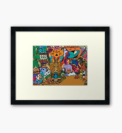 Puss-in-boots Framed Print