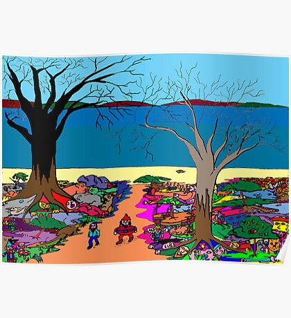 Gnomonic Landscape Poster