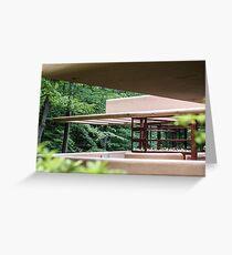 Falling Water, Kaufman House, Frank Lloyd Wright Greeting Card