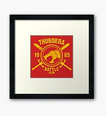 Thundera Battle Club Framed Print