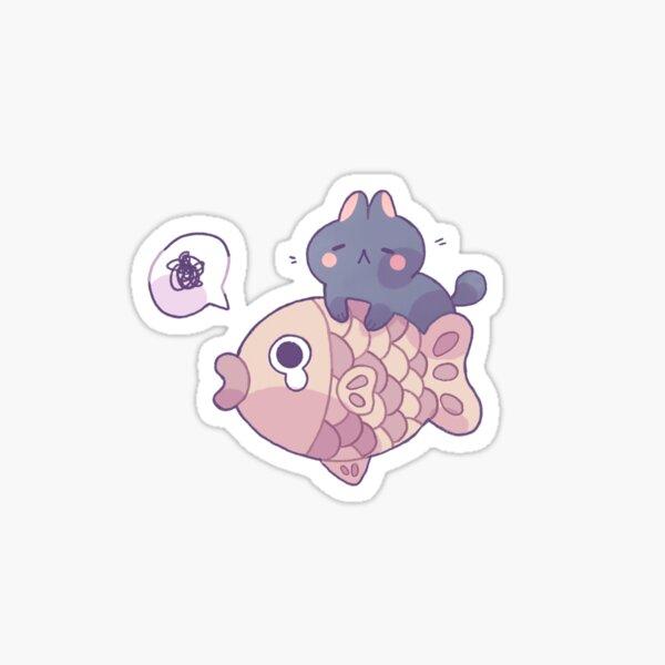 Cat and Taiyaki Sticker