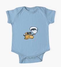 Wall-e sings a two step One Piece - Short Sleeve
